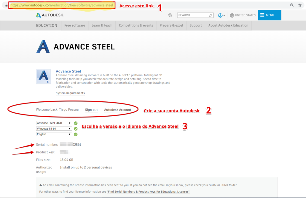 advance steel download